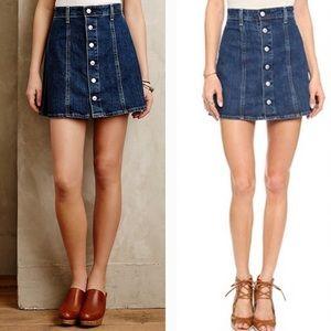 Alexa Chung for AG Denim Button Front Skirt 27